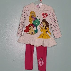 Disney princess sweater/pants set